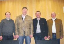 Der neue Vorstand - im Bild v. l.: Obm.-Stv. Johannes Raimund Kreil