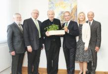 Nachhaltigkeitsfrühstück der Hagelversicherung - im Bild v. l. August Astl