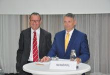 ÖBf-Vorstände Rudolf Freidhager (l.) und Georg Schöppl präsentierten gut gelaunt die Bilanz zum Geschäftsjahr 2015.
