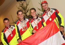 Die heimischen Medaillengewinner (v. l .n. r): Harald Umgeher