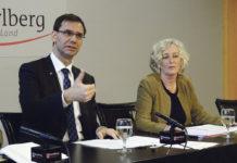 Landeshauptmann Markus Wallner und Soziallandesrätin Katharina Wiesflecker stellten die Neuregelung der Mindestsicherung vor.