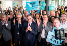 NR Hermann Gahr feierte mit LH Günther Platter den Wahlerfolg.