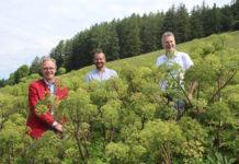 Werner Ultsch (Eagles Future Distillery), Christoph Spörr und Wendelin Juen (LK Tirol)