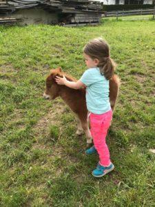 Theresa meint, diese Ponygröße ist gerade richtig!