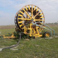 Beregnungsmaschine mit 50 Meter Schlauch,Kopf und Sprinkler, voll funktionstüchtig, Nähe Aderklaa