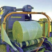 Maissilage in Rundballen zu…